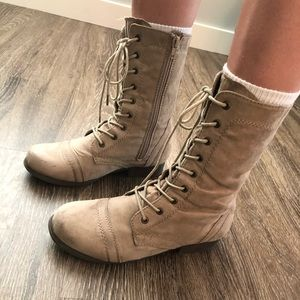 Forever 21 Tan Combat Boots